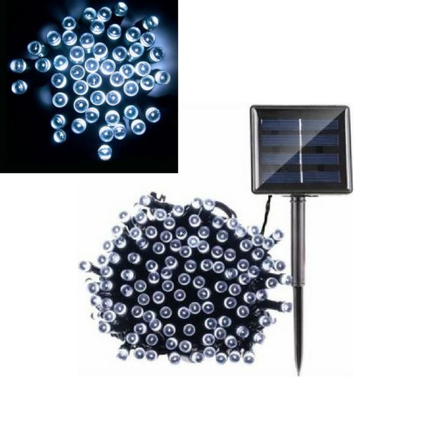 50 LED solcelle lyskæde, kold hvid - 6.4m
