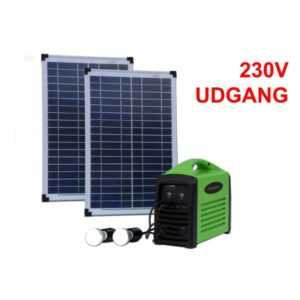 Camping kit 240 (2x 25W / 240Wh batteri / 230V AC)