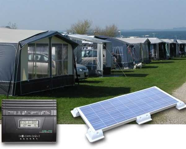 Camping solcelleanlæg 400-450Wh (100Wp)