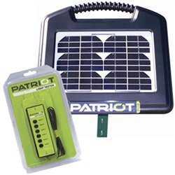 Elhegn med solceller & 12V batteri - Patriot PS15 (0,15J) inkl. Hegnstester