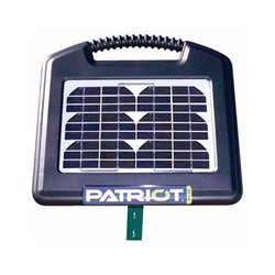 Elhegn med solceller & 12V batteri - Patriot PS15 (0,15J)