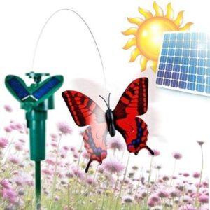 Flagrende Sommerfugl med Solcelle