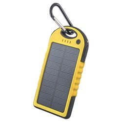Forever STB-200 Solcelle Oplader - 5000mAh - Gul