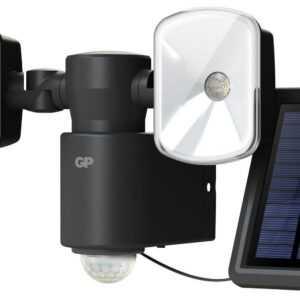 GP Safeguard RF4.1H. Kraftig ledningsfri udendørs sensorlampe m/Solceller