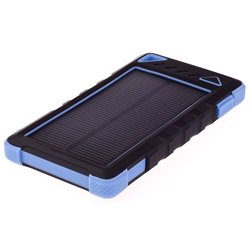 GreyLime Power Solar, 8000 mAh powerbank, 1,2W solcelle oplader, Blå