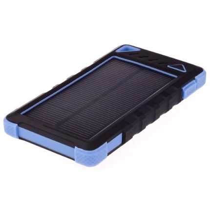 GreyLime Power Solar, 8000 mAh solcelle powerbank, Blå