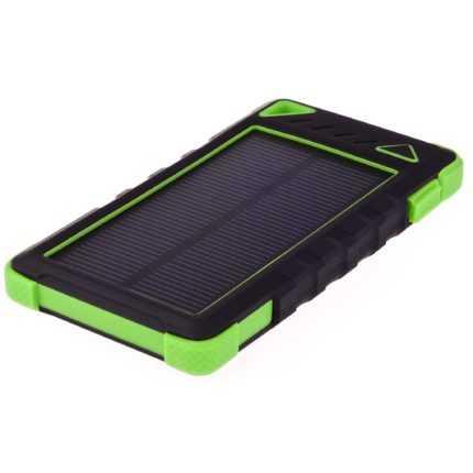 GreyLime Power Solar, 8000 mAh solcelle powerbank, Grøn