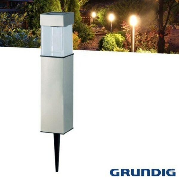Grundig Firkantet Solcelle Lampe - 28 cm