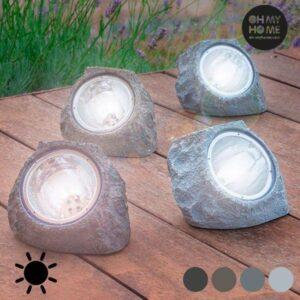 Kunstig Solcellesten (4 LED)