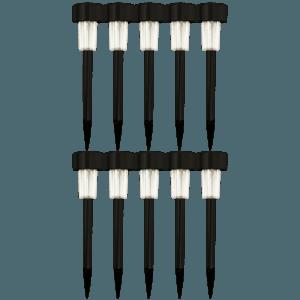 LED Solcelle Lamper udendørs - Sorte 10 stk
