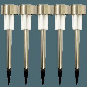 LED Solcelle Lamper udendørs - Stål 5 stk