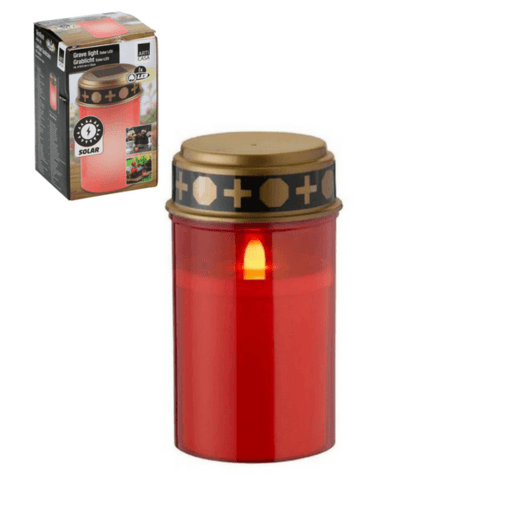 LED solcelle gravlys rød