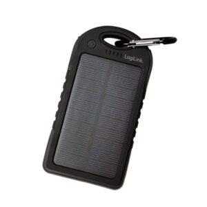 LogiLink Solar Powerbank med LED lygte. 5000mAh.