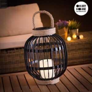 Oh My Home Solar Lanterne med LED Stearinlys