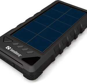 PowerBank Outdoor Solar 16000 mAh, Black