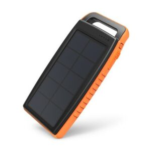 RAVPower Solar 15000 mAh outdoor solcelle powerbank, Sort og orange