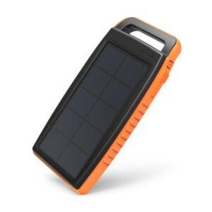 RAVPower Solar 15000 mAh outdoor solcelle powerbank, Sort og orange