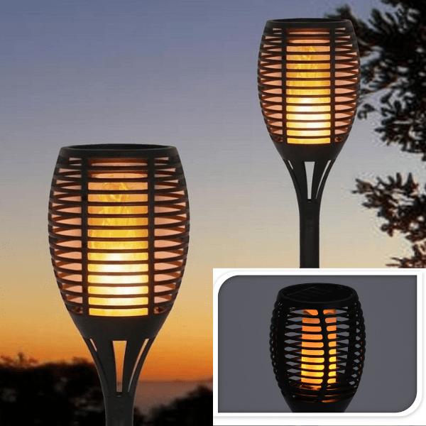 Solcelle Flamme Fakkel med LED – 77 CM
