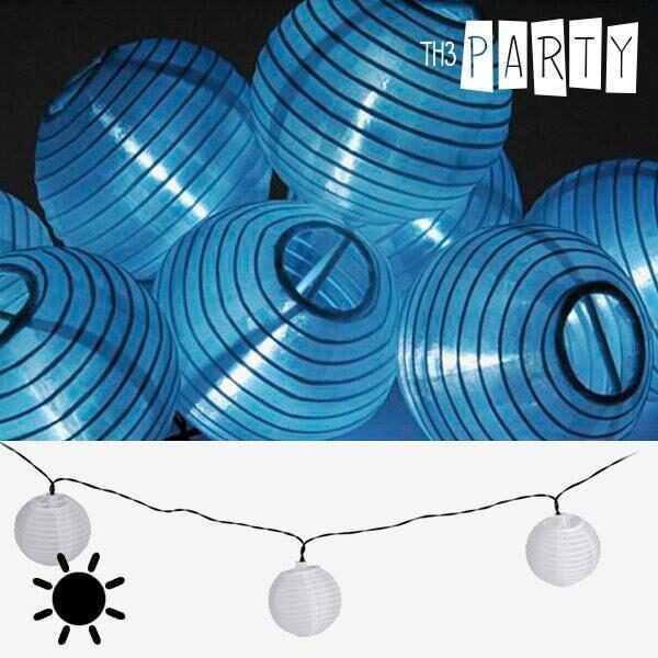 Solcelle Guirlande med Hvide Lanterner (10 LED Lys)