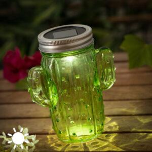 Solcelle Lampe Kaktus (1 LED)