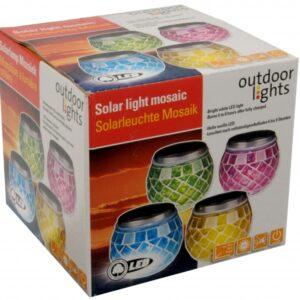 Solcelle mosaic lys, 1 hvidt LED-lys. Fås i 4 farver Turkis