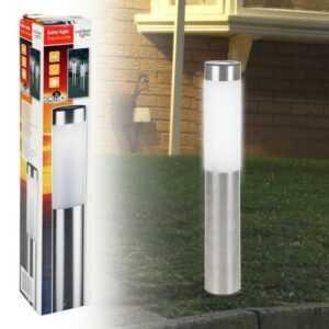 Solcelle spyd i rustfrit stål - H 35,5cm x D 6cm