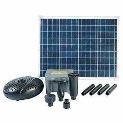 Ubbink sæt med solpanel, pumpe og batteri SolarMax 2500