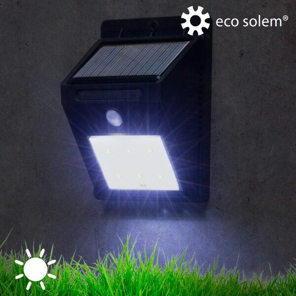 Udendørs Solcelle sensorlampe - til væg