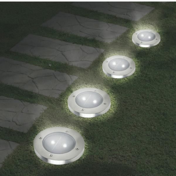 Udendørs solcelle spot til nedgravning – 4 stk.