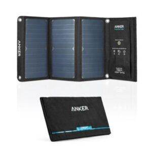 Anker PowerPort Solar 21W 2-port solcellepanel, Sort