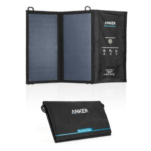 Anker PowerPort Solar Solcell panel 15W powerbank - Sort