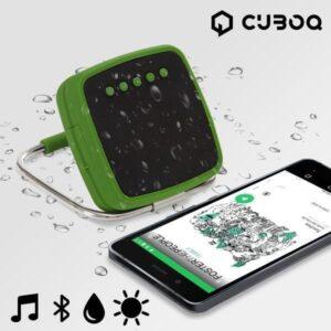 CuboQ Soldrevet Bærbar Bluetooth Højtaler