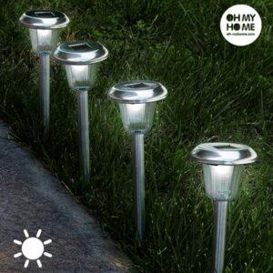 Oh My Home Fakkel Cirkelformet Solar Lys (Pakke med 4)