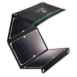 RAVPower Sol oplader 16W Solpanel til iPhones/iPads i Sort