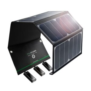 RAVPower Solar Charger, 24W Solcelle panel, Sort