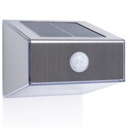 SMARTWARES Solar Wall Light with PIR Sensor Trapezoid Silver 5000.702