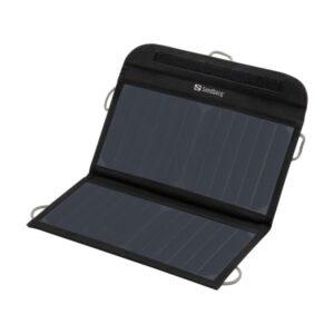 Sandberg Foldbar Solcelle Oplader. 13W 2xUSB. Sort.
