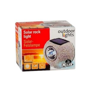 Solar lampe, sten, brun