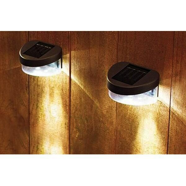 Solcelle LED lampe til væggen (fås i sort og hvid)