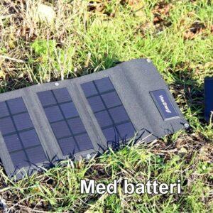 Solcelle mobillader 6W5V-B m/2Ah batteri