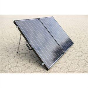 150W (450Wh) luxus solcellekuffert, sort m/MPPT