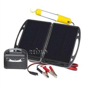 CARBEST Mobil Solcellegenerator med 13 W modul og batteri 12V/7A
