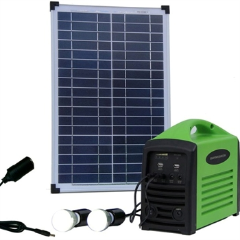 Solceller, komplet camping kit 25W/80Wh